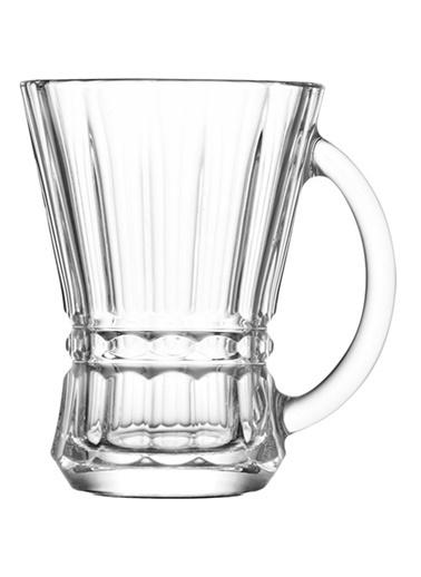 6'lı Venüs Kulplu Çay Bardağı-Lav